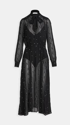 Fleur Du Mal Embroidered Dress With Bodysuit