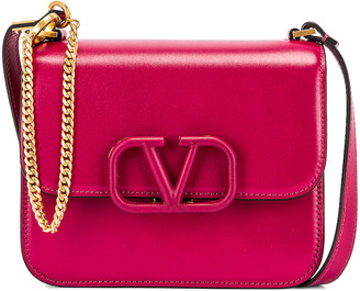 Valentino Small Sling Shoulder Bag in Raspberry Pink | FWRD