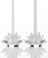 Godinger Lighting by Design Candle Holders, Set of 2 Lotus Candlesticks