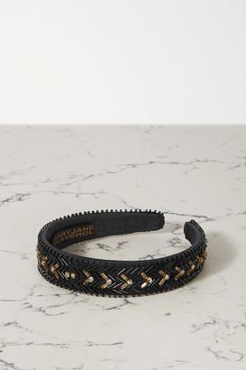 MaryJane Claverol Del Sol Embellished Cotton-blend Headband