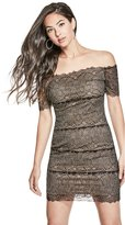 GUESS Women's Darcy Off-The-Shoulder Lace Dress