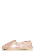 Quiz Rose Gold Shimmer Hessian Pumps