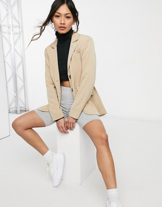Fashion Union relaxed fit longline blazer with pocket detail co-ord
