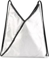 MM6 MAISON MARGIELA metallic (Grey) drawstring backpack