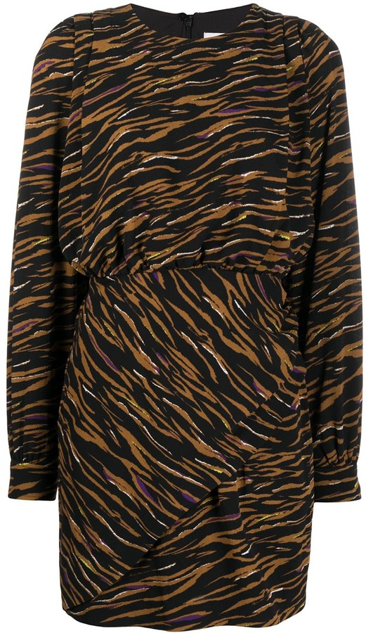 Lala Berlin Zebra Print Elasticated Waist Dress
