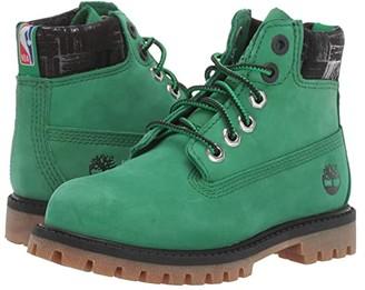 Timberland Kids 6 Premium Waterproof Boot - Boston Celtics (Toddler/Little Kid) (Medium Green Nubuck) Kids Shoes