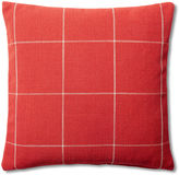 French Laundry Home Windowpane 20x20 Cotton Pillow, Red
