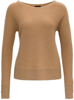 Liu Jo Liu-Jo Ribbed Lurex Knit Sweater Wit Jewel Buttons On Cuffs