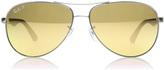 Ray-Ban 8313 Sunglasses Shiny Gunmetal 004/N3 Polariserade 58mm