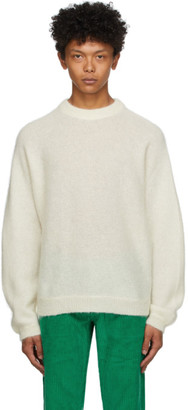 ERL Off-White Alpaca and Mohair Sweater