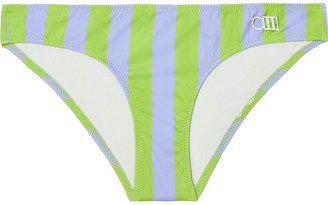 Solid & Striped The Elle Striped Low-rise Bikini Briefs