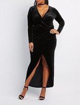 Charlotte Russe Plus Size Velvet Surplice Maxi Dress