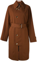 Marni flap closure trench coat - women - Cotton/Virgin Wool - 38