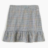 J.Crew Petite ruffle mini skirt in houndstooth