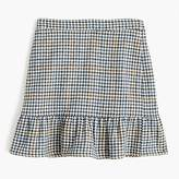 J.Crew Ruffle mini skirt in houndstooth