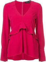 Proenza Schouler V-neck ruffle blouse - women - Acetate/Viscose - 2