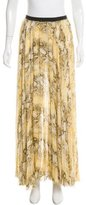 Enza Costa Snakeskin Printed Chiffon Skirt
