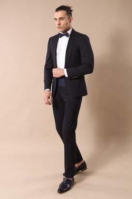 Wessi Men's Slimfit Schal Revers Smoking Tuxedo