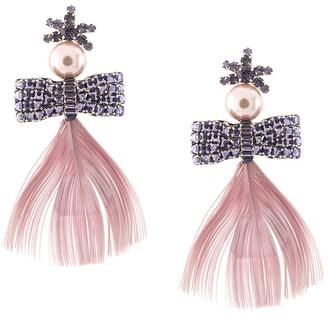 Mignonne Gavigan Lux Peacock feather earrings