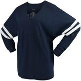 Unbranded Women's Navy Auburn Tigers Pom Pom V-Neck Long Sleeve T-Shirt