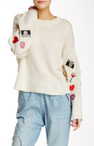 Wildfox Couture Knit & Embellished Patches Sweater