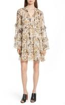 Robert Rodriguez Women's Tiered Ruffle Silk Dress