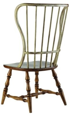 Hooker Furniture Sanctuary Windsor Back Side Chair in Drift and Dune (Set of 2