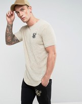 SikSilk Textured Muscle T-Shirt In Stone