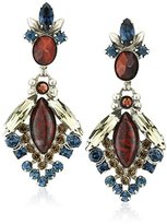 "Sorrelli Blue Brocade"" Baroque Statement Drop Earring"