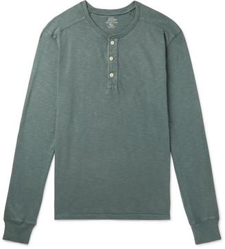 J.Crew Slub Cotton-Jersey Henley T-Shirt