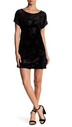 Vanity Room Crushed Velvet Cuffed Sleeve T-Shirt Dress
