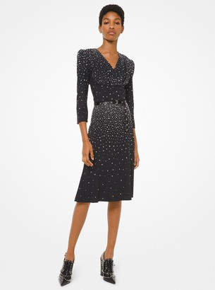 Michael Kors Studded Crepe Sable Dress
