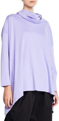 eskandar Long-Sleeve Cowl-Neck Monk's Top T-Shirt