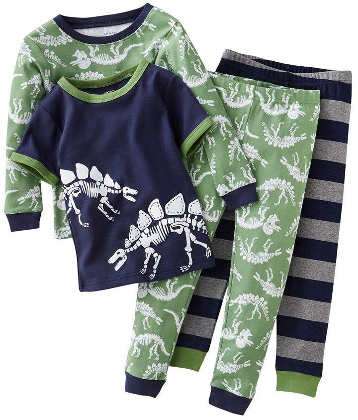 Carter's dinosaur bones pajama set - toddler