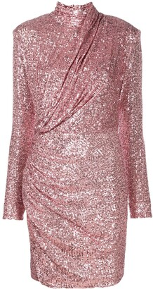 Redemption Sequin-Embellished Silk Dress