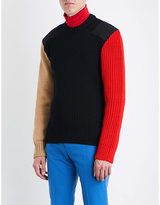 Calvin Klein 205w39nyc Contrast-panel Wool-blend Jumper