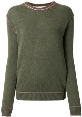 Marni Contrast Stitching Jumper