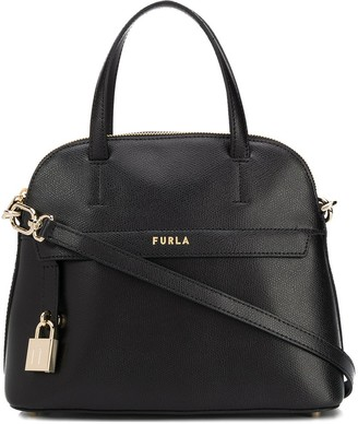 Furla Piper S padlock detail tote bag