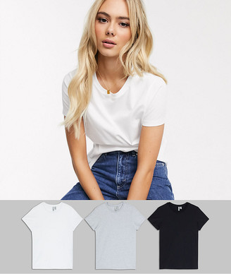 Asos DESIGN ultimate organic cotton crew neck t-shirt in 3 pack SAVE