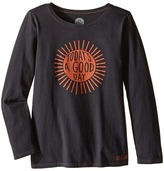 Life is Good Good Day Sunshine Long Sleeve Tee (Little Kids/Big Kids)