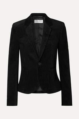 Saint Laurent Cotton-corduroy Blazer - Black