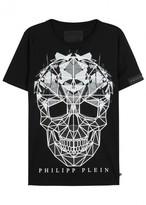 Philipp Plein Cryptic Embellished Skull Cotton T-shirt
