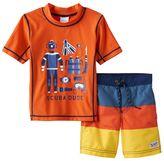 "Carter's Baby Boy Scuba Dude"" Rash Guard & Swim Trunks Set"