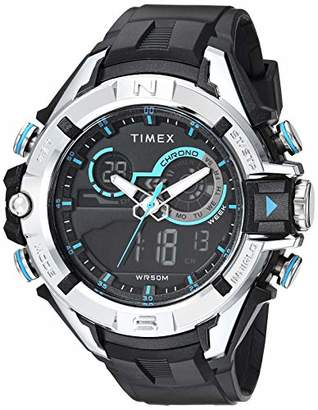 Timex Men's TW5M23000 DGTL Guard Bold Combo 47mm Resin Strap Watch