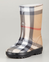 Burberry Check Rain Boots, House Check, Youth