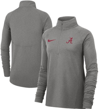 Nike Women's Heathered Gray Alabama Crimson Tide Element Essential Performance Half-Zip Pullover Jacket