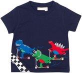 Jo-Jo JoJo Maman Bebe Racing Dinosaurs T-Shirt (Baby) - Navy-12-18 Months