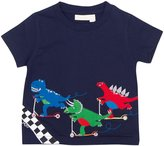 Jo-Jo JoJo Maman Bebe Racing Dinosaurs T-Shirt (Baby) - Navy-6-12 Months