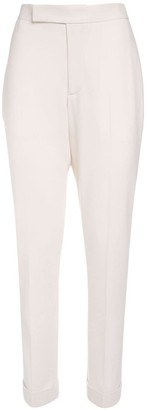 Ralph Lauren Collection Wool Crepe Straight Leg Pants