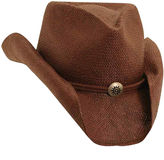 Scala Dorfman Shapeable Toyo Western Straw Hat